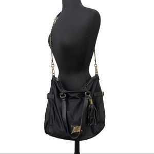 Juicy Couture Malibu Large Black Nylon Crossbody